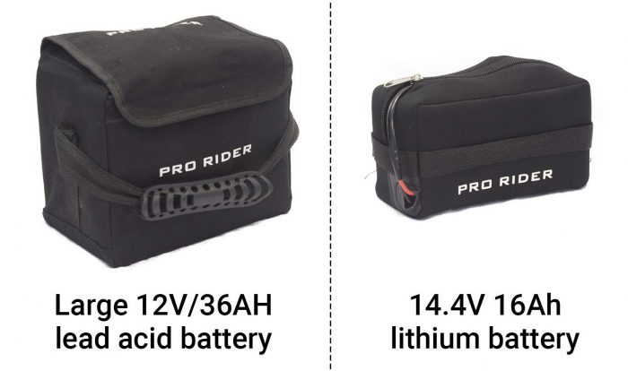 Sealed lead acid and lithium-ion batteries