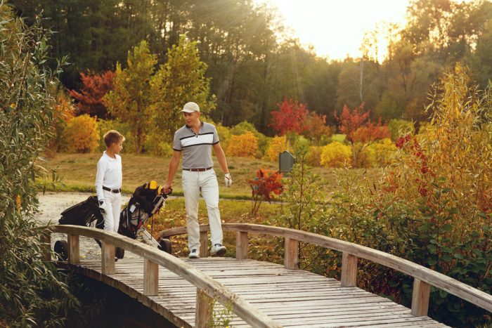 father and son golfers